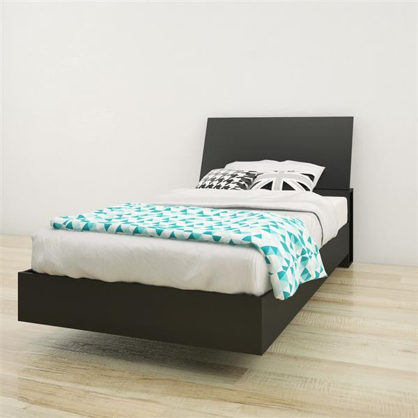 Nexera 2 Piece Black Twin Bedroom Set