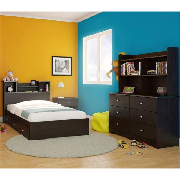 Nexera Pocono 5 Piece Espresso Twin Bedroom Set