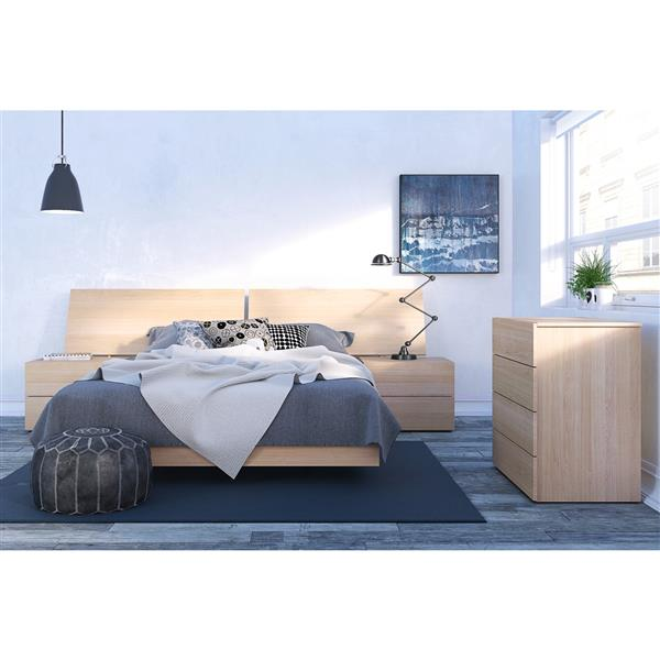 Nexera Kabane 5 Piece Maple Queen Bedroom Set