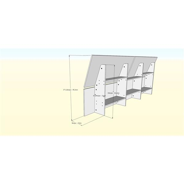 Nexera Kabane 5 Piece Maple Full Bedroom Set