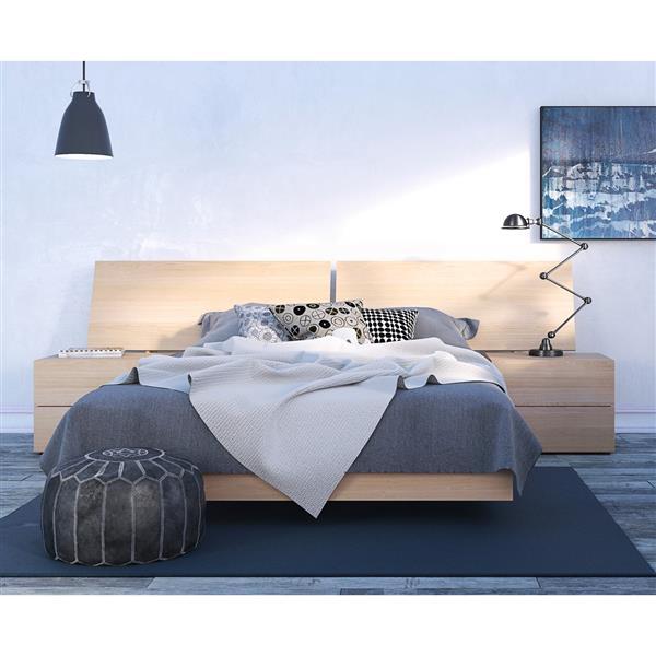 Ens. de chambre à coucher Kabane grand lit, 4 mcx, érable