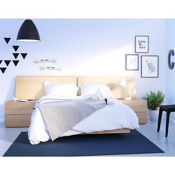 Nexera Kabane 4 Piece Maple Full Bedroom Set