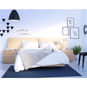 Ens. de chambre à coucher Kabane double, 4 mcx, érable