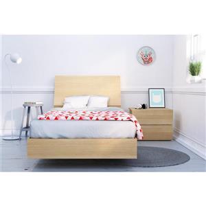 Ens. de chambre à coucher Kabane simple, 3 mcx, érable