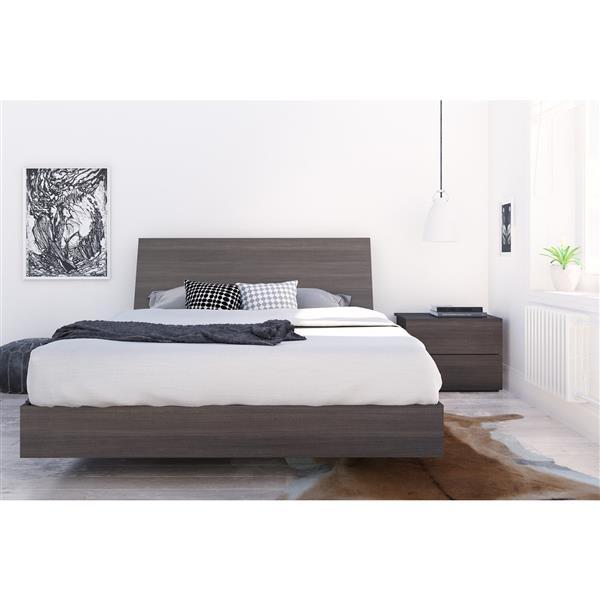 Nexera Jet Set 3 Piece Ebony Queen Bedroom Set