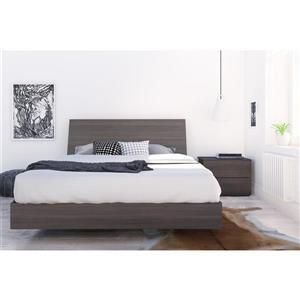 Ens. de chambre à coucher Jet Set grand lit, 3 mcx, ébène