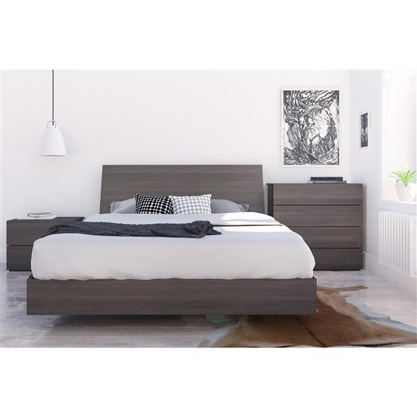Nexera Jet Set 4 Piece Ebony Queen Bedroom Set