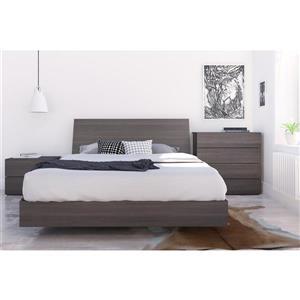 Ens. de chambre à coucher Jet Set grand lit, 4 mcx, ébène