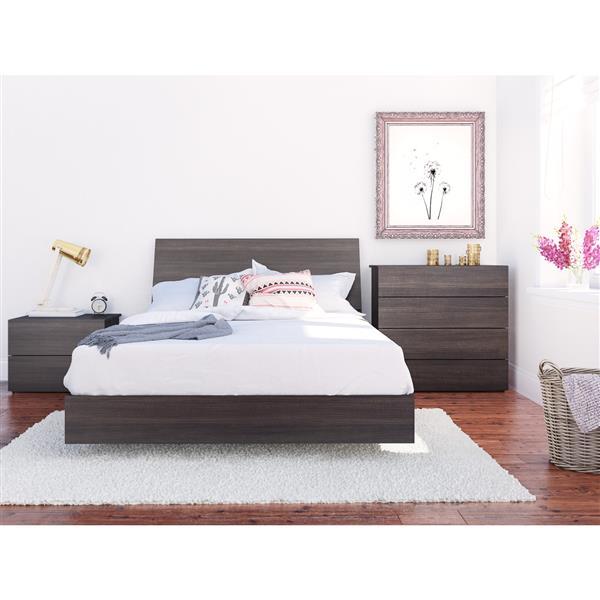 Nexera Jet Set 4 Piece Ebony Full Bedroom Set