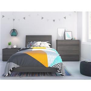 Ens. de chambre à coucher Jet Set simple, 4 mcx,  ébène