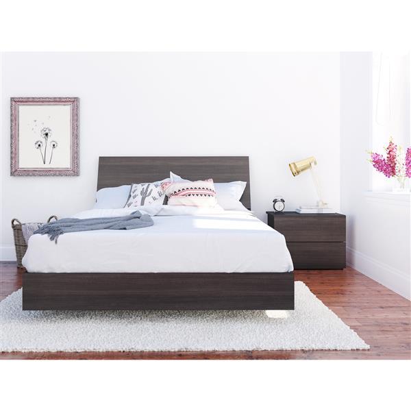 Nexera Jet Set 3 Piece Ebony Full Bedroom Set
