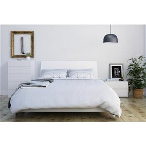 Paris 3 Piece White Queen Bedroom Set