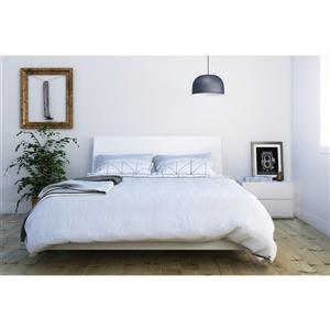Ens. de chambre à coucher Paris grand lit, 3 mcx, blanc