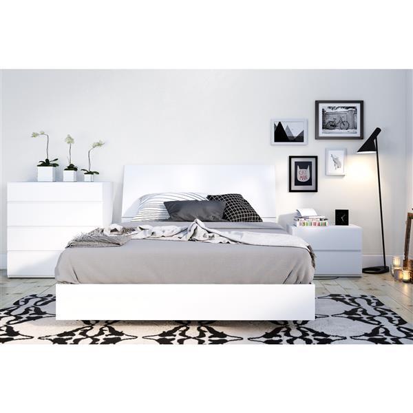 Nexera Paris 4 Piece White Full Bedroom Set