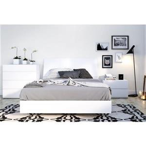 Paris 4 Piece White Full Bedroom Set