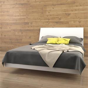 Ens. de chambre à coucher Nexera grand lit, 2 mcx, blanc