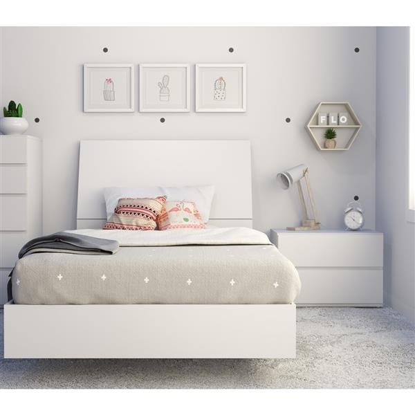 Ens. de chambre à coucher Paris simple, 3 mcx, ébène