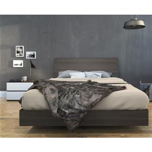 Ens. de chambre à coucher simple, 3 mcx, blanc/ébène