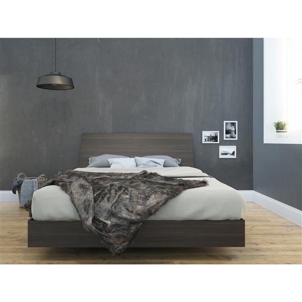 Ens. de chambre à coucher Nexera grand lit, 2 mcx, ébène