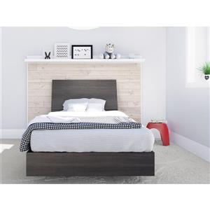 Nexera 2 Piece Ebony Twin Bedroom Set
