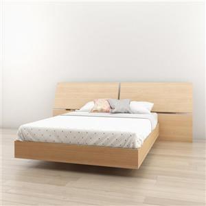 Ens. de chambre à coucher Nexera double, 2 mcx, érable