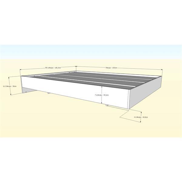 Nexera Nordik 4 Piece Maple and White Full Bedroom Set
