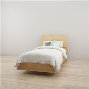 Ens. de chambre à coucher Nexera simple, 2 mcx, érable
