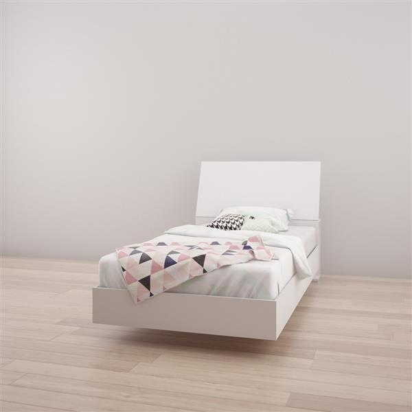 Nexera 2 Piece White Twin Bedroom Set