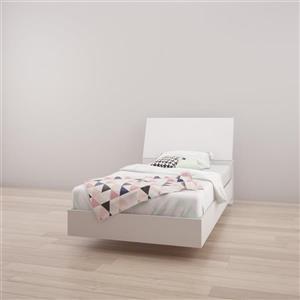 Nexera 2 Piece White Twin Bedroom Set