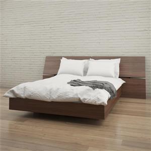 Nexera Queen Bedroom Set - 2 Pieces - Walnut