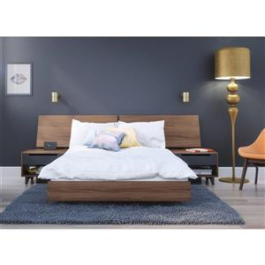 Alibi 4 Piece Walnut Full Bedroom Set