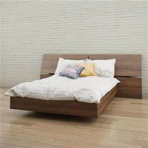 Nexera 2 Piece Walnut Full Bedroom Set