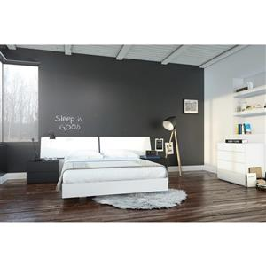 Melrose 5 Piece Black and White Queen Bedroom Set