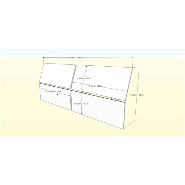 Nexera Melrose 4 Piece Black and White Full Bedroom Set
