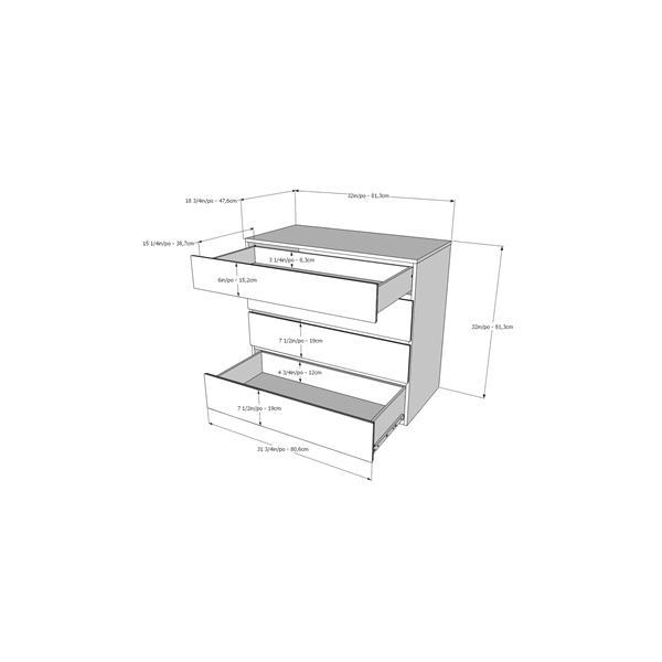Nexera District 5 Piece White Full Bedroom Set