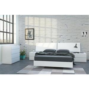 Ens. de chambre à coucher District double, 5 mcx, blanc