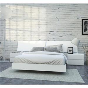 Ens. de chambre à coucher District grand lit, 4 mcx, blanc