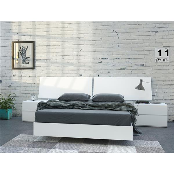 Nexera District 4 Piece White Full Bedroom Set