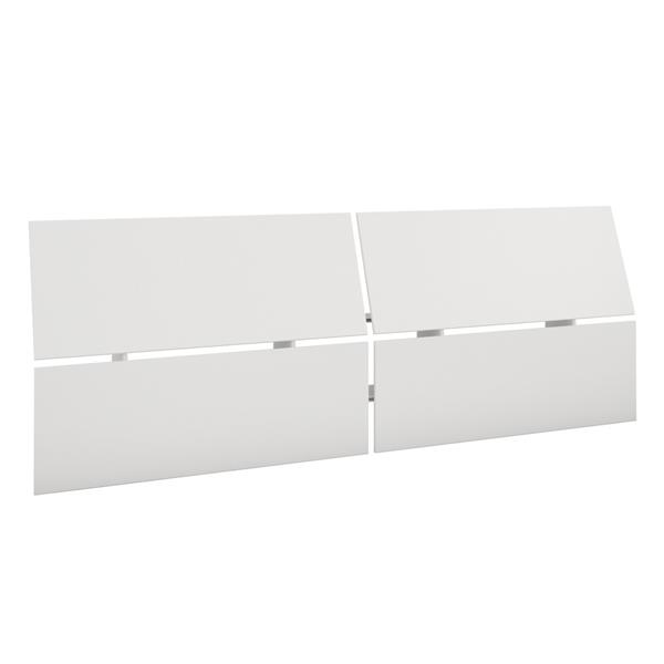 Nexera 2 Piece White Queen Bedroom Set