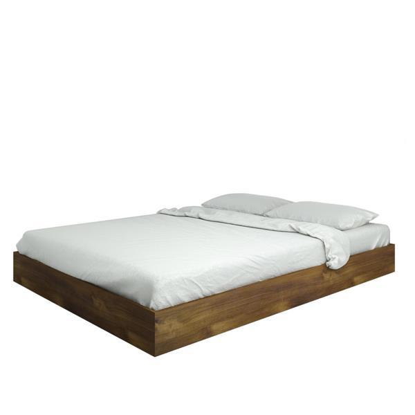 Nexera Nocce 2 Piece Truffle Queen Bedroom Set