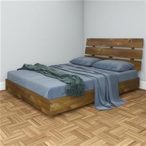 Ens. de chambre à coucher Nocce grand lit, 2 mcx, truffe