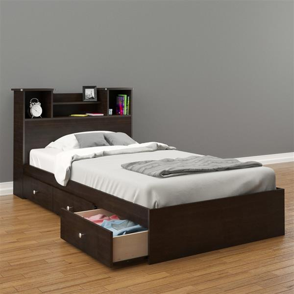 Nexera Pocono 2 Piece Espresso Twin Bedroom Set