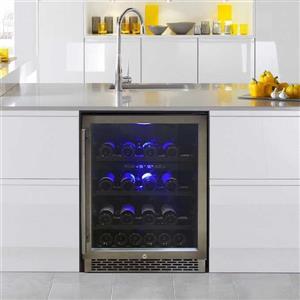 VinoTemp Black 46-Bottle Dual Zone Wine Cooler