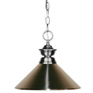 """Luminaire suspendu à 1 lumière, 14"""", métal, nickel"""