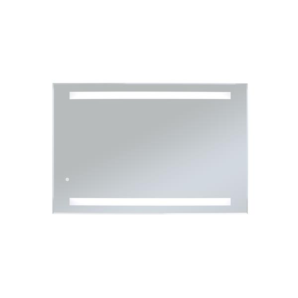 WarmlyYours 24-in x 36-in LED Backlit Rectangular Clear Mirror