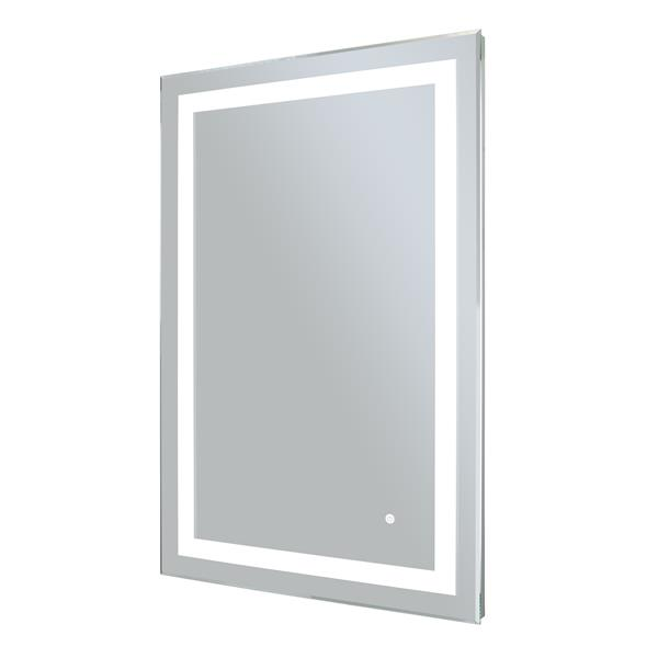 WarmlyYours 24-in x 36-in LED Backlit Rectangular Mirror