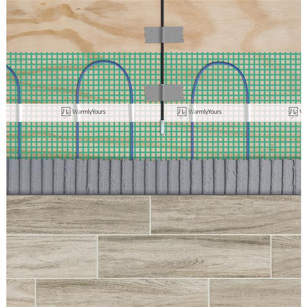 WarmlyYours Tempzone™ 1.5-in x 29-in 240V Green Flex Roll