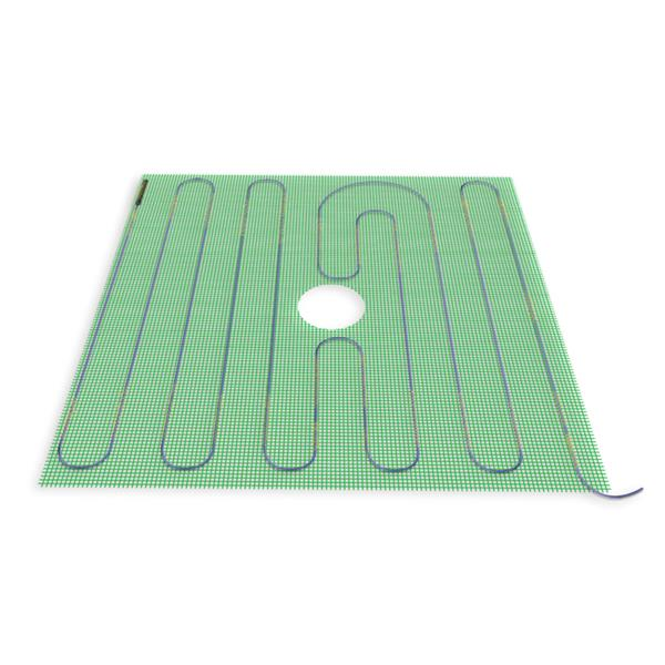WarmlyYours TempZone™ 4-ft x 4-ft 120V Green Shower Mat