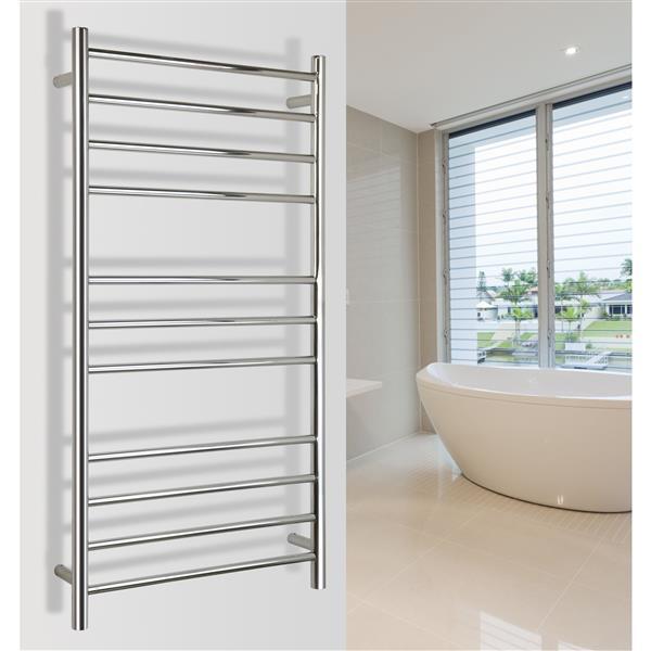 WarmlyYours Ontario 45.2-in Chrome 11-Bar Towel Warmer