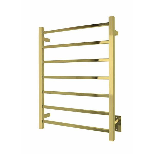 WarmlyYours Tahoe 31.5-in Gold 7-Bar Towel Warmer